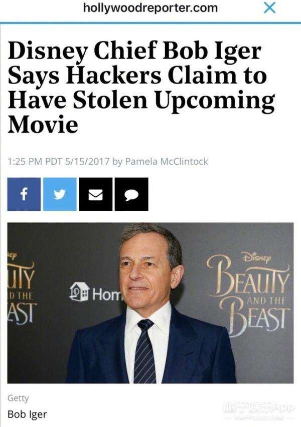 黑客勒索迪士尼