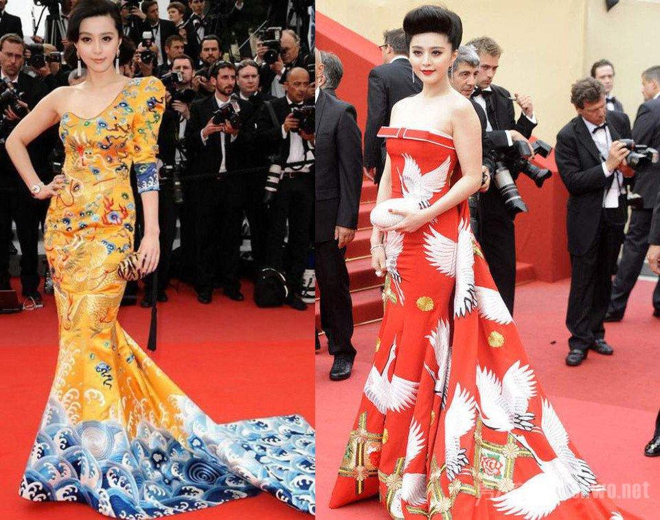 范冰冰龙袍和仙鹤造型