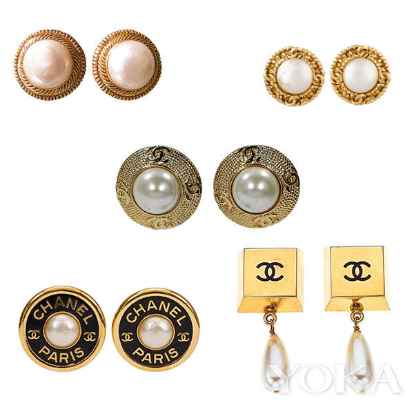 Chanel珍珠耳环