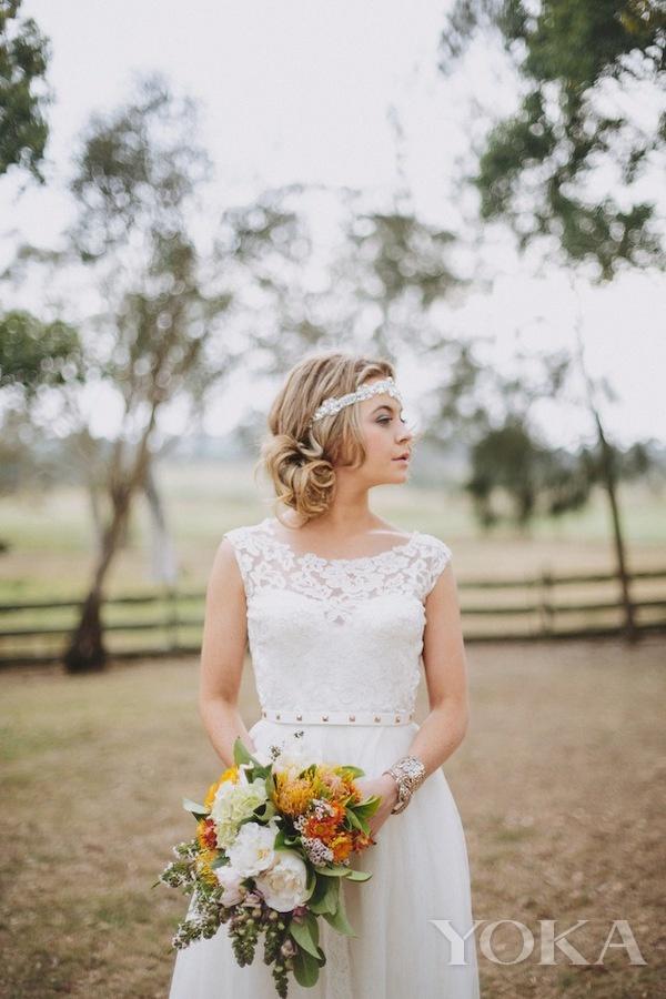新娘造型,图片来自Pinterest。
