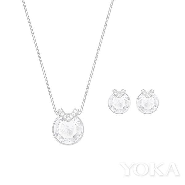 施华洛世奇 BELLA V耳环项链套装, ¥1,290.00,图片来自官网。