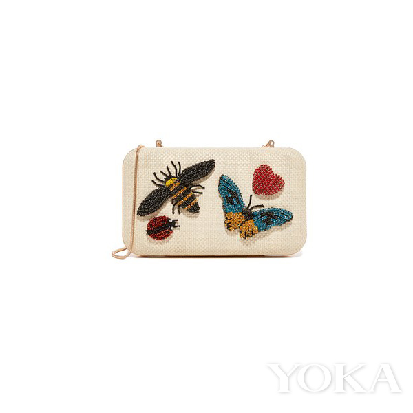 alice + olivia Shirley Insects 刺绣手包,<!--_404ESCAPE404_--> 495.00,可购于shopbop.com,图片来自官网。
