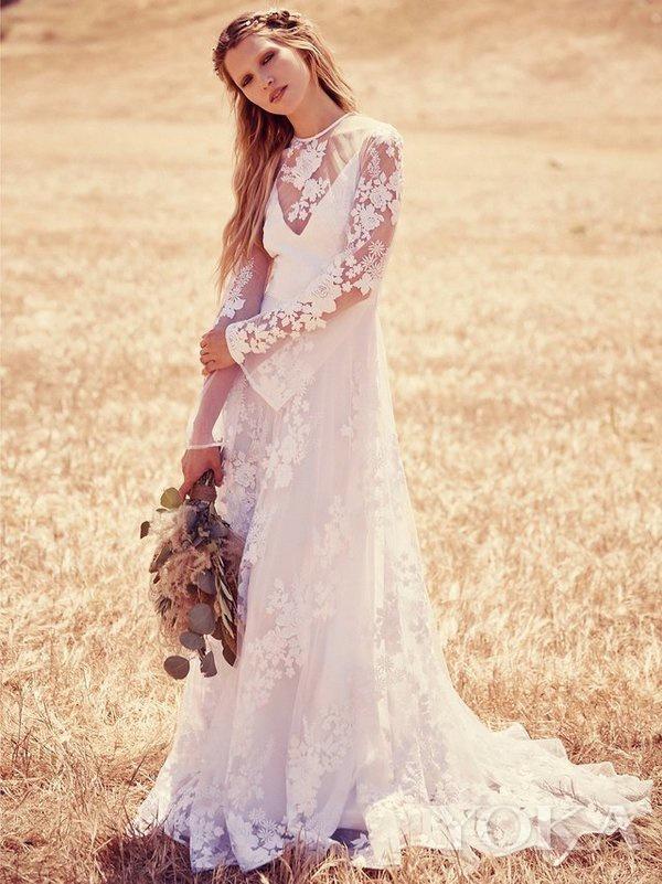 新娘造型,图片来自Free People。
