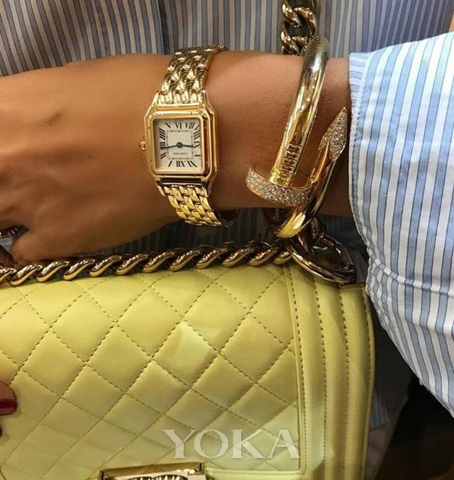 卡地亚猎豹链带腕表,图片来自Pinterest