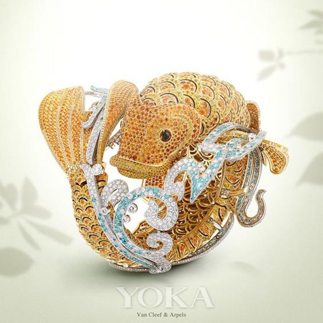 梵克雅宝Carpe Koï 手镯腕表,图片来自品牌