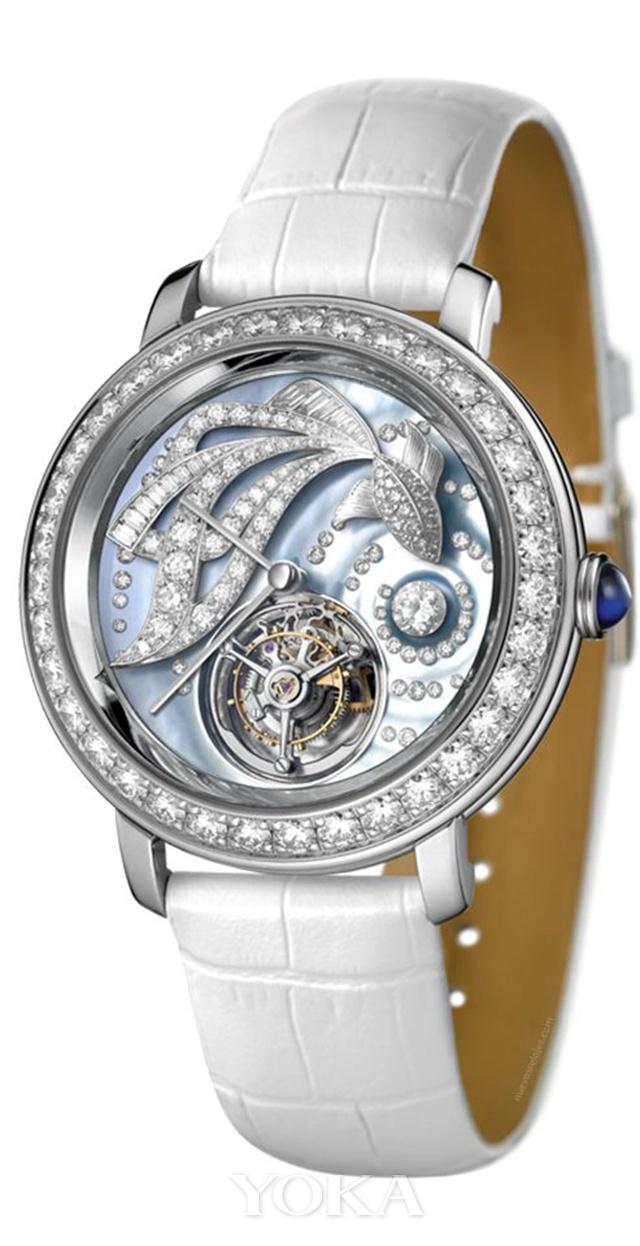 宝诗龙EPURE D'ART艺术系列AMA金鱼主题腕表,图片来自品牌