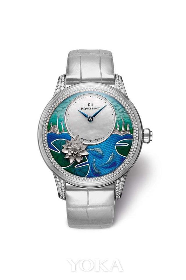 雅克德罗全新金雕锦鲤时分小针盘腕表,图片来自品牌