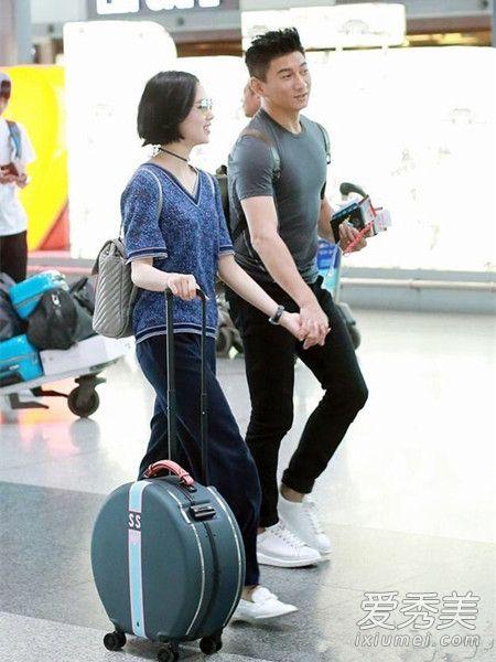 刘诗诗最新机场街拍 刘诗诗机场街拍圆形行李箱是什么牌子