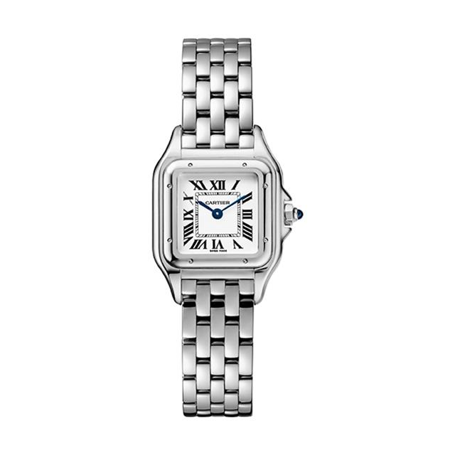 卡地亚Panthère de Cartier猎豹腕表,小号款,精钢,图片来源卡地亚。