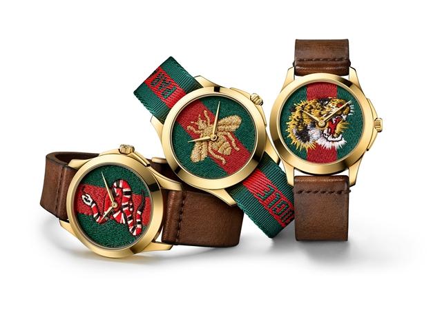 迪丽热巴佩戴GUCCI腕表,图片来源于GUCCI。