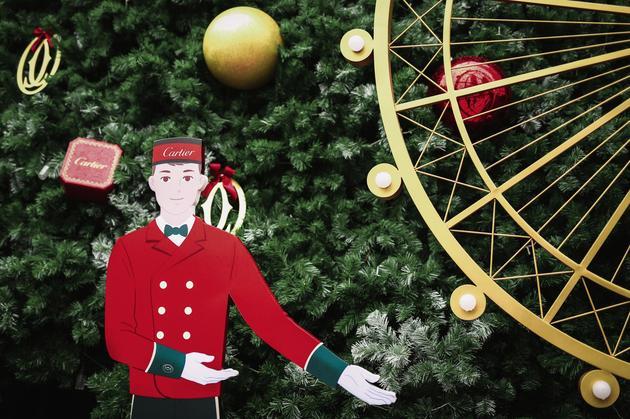 卡地亚圣诞树-伦敦城景细节