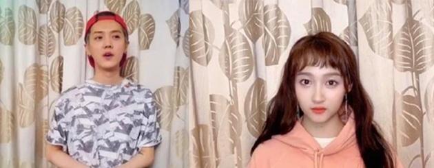 之前网友扒出关晓彤和鹿晗分别在不同的视频中用了同款背景窗帘