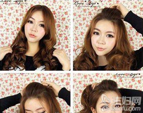 """美发 流行发型 图解最新韩式甜美气质花苞头发型扎法  """"  夏季就是要"""