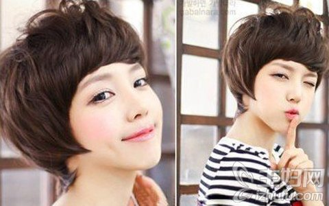 2013最新时尚可爱乖巧韩式短发烫发发型