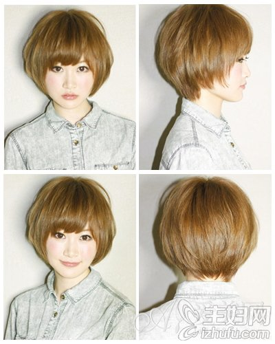 女生短发发型设计 清纯可爱造型大pk