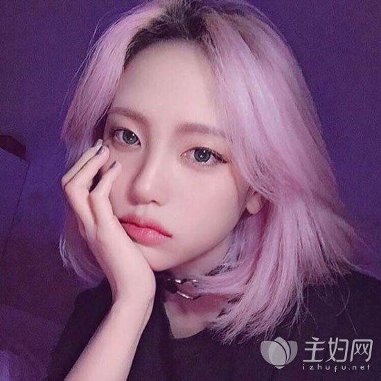 8款2017年短发流行发色推荐  粉色系的染发颜色唯美又梦幻,每个女生
