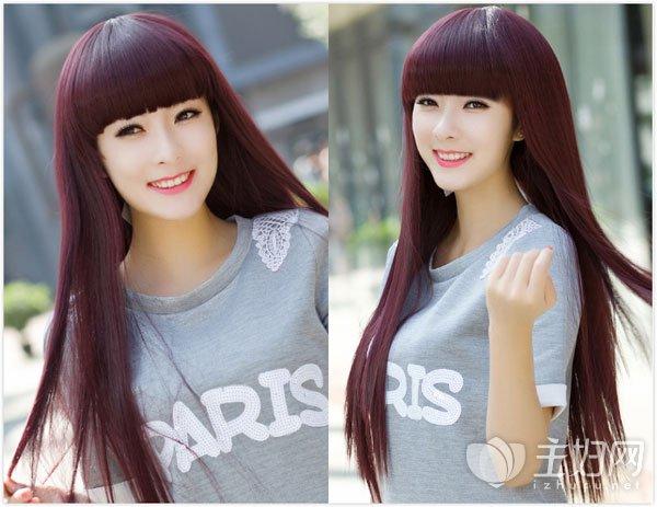 简约时尚长发直发发型图片精选 清纯温婉打造迷人气质图片