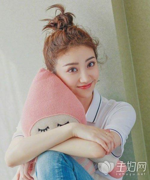 【赵丽颖丸子头明星】图片图片头发型谁可爱编发最美图片丸子大全图片