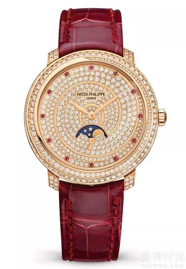 百达翡丽玫瑰金女式复杂功能腕表
