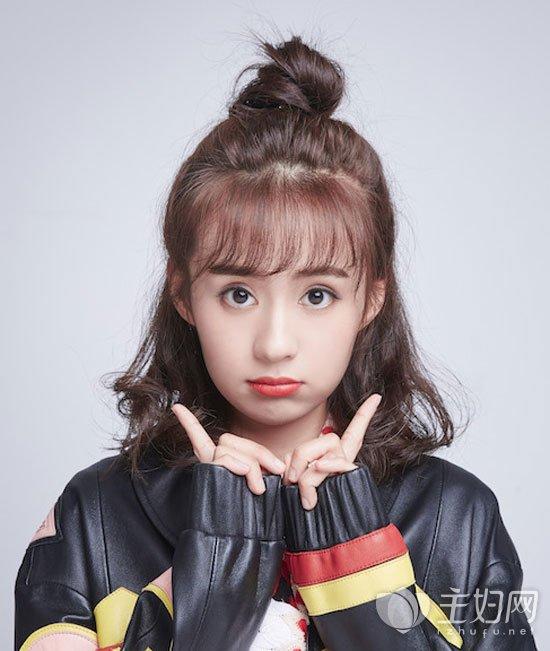 郑合惠子短发丸子头发型