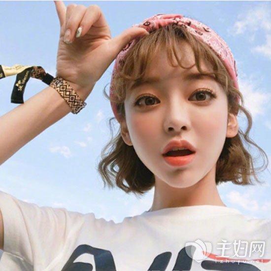 韩式发型短卷发图片