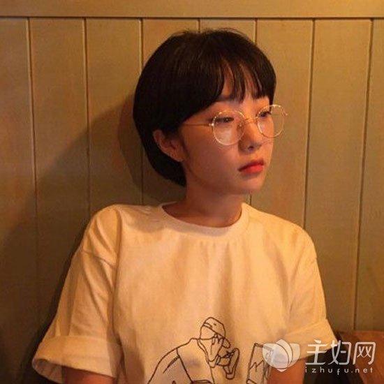 【发型图片女生短发】齐耳短发时尚a发型2017韩版短发女生头像图片