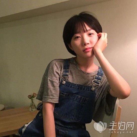 2017年流行短发齐刘海发型图片