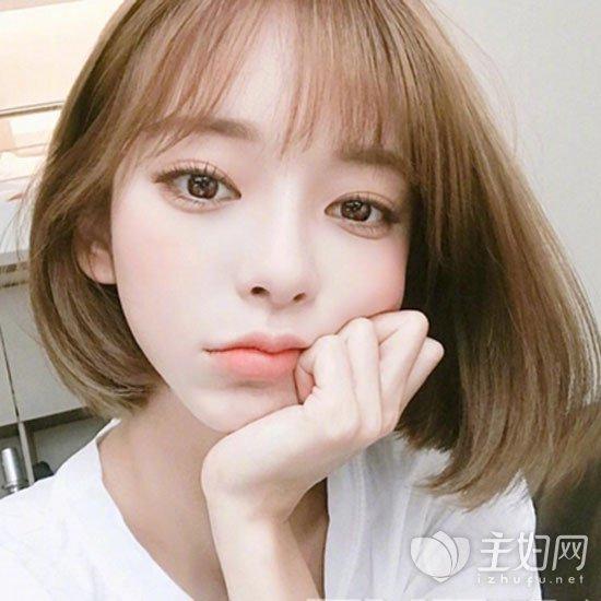【短发直发发型图片】夏季发型短直发清爽时尚_主妇