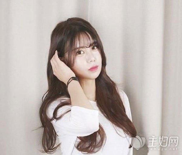 空气刘海卷发发型图片
