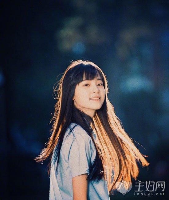 欧阳娜娜齐刘海发型