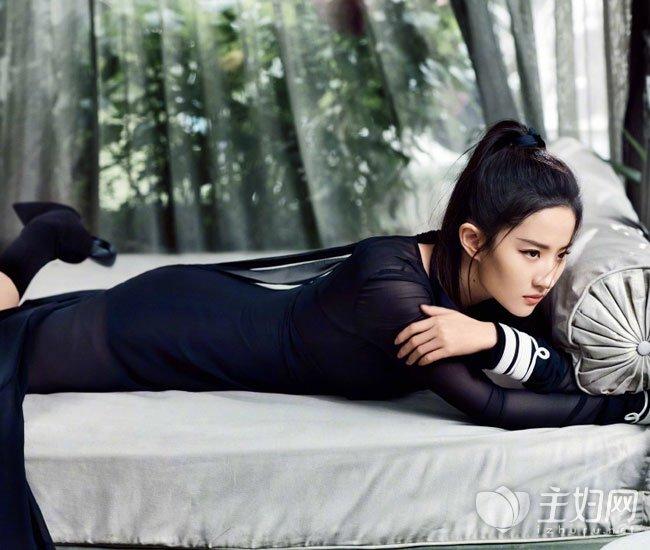 刘亦菲马尾辫发型