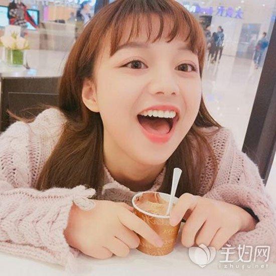 空气刘海长发发型图片