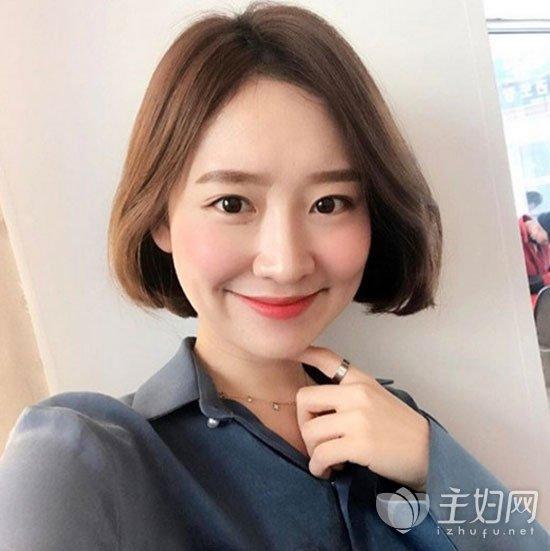 无刘海短发发型图片