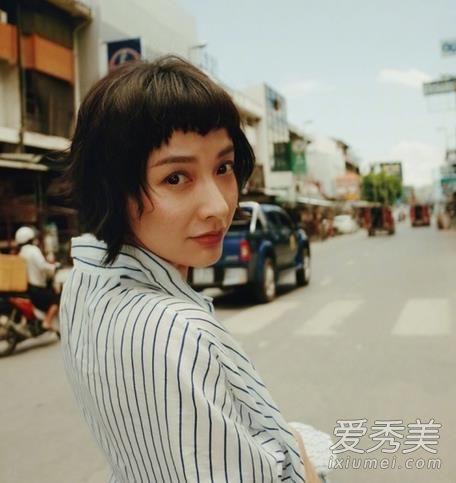 吴昕二次元刘海短发