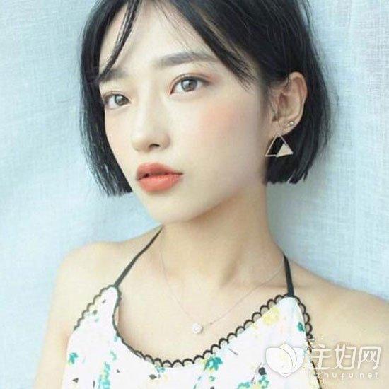 韩式短发显脸瘦齐耳短发齐耳头型修颜瘦脸脸长的发型剪什么女生好看图片