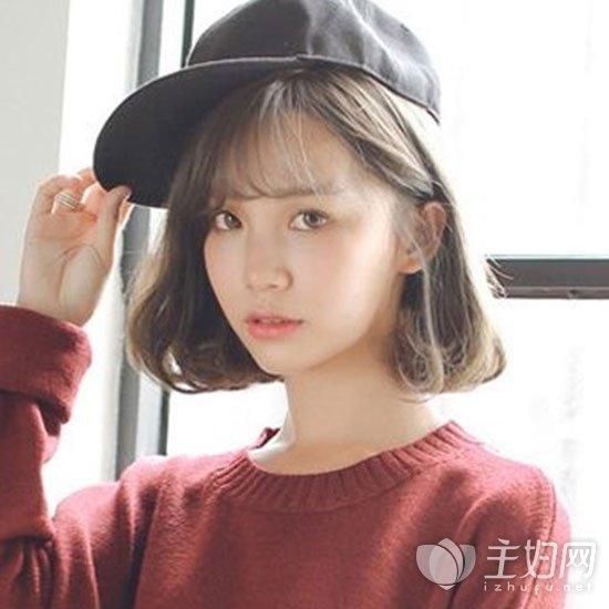 大脸短发内扣发型 修颜瘦脸内扣短发造型  内扣短发配什么刘海好看呢?