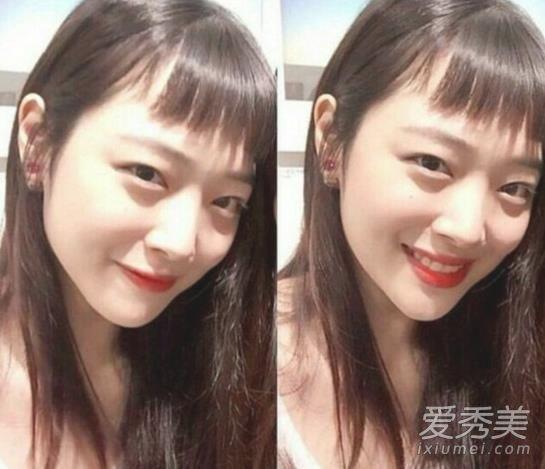 二次元刘海长发图片 韩国女生都剪疯了  二次元刘海适合瓜子脸 要说到图片