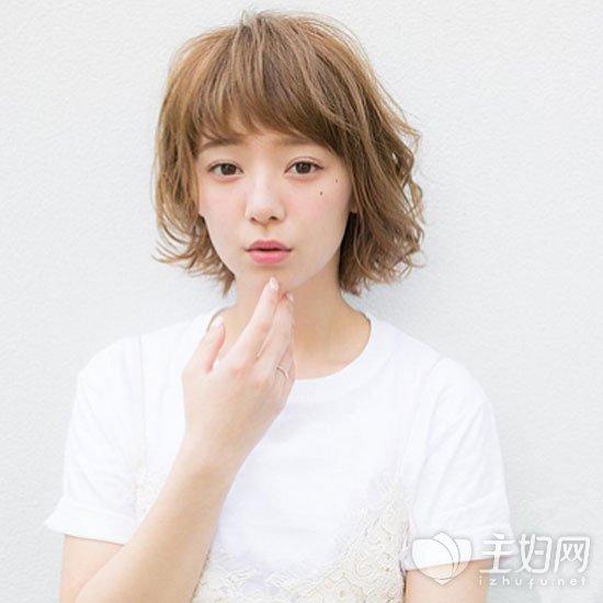 日系短发时尚显清新 女生短发日系发型图片图片