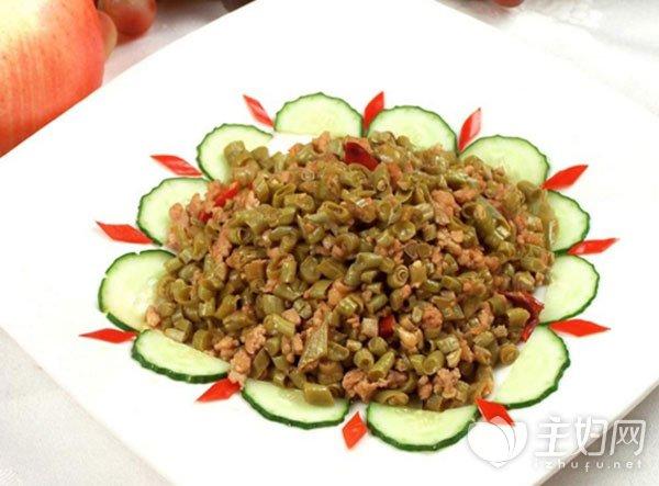 酸豆角炒肉末的家常做法
