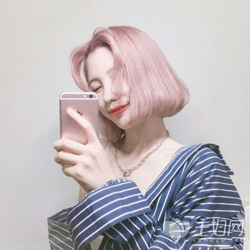 波波头短发发型图片