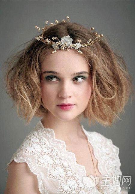 齐肩发怎么做新娘发型 新娘发型扎法教程