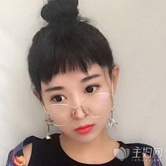 女生刘海发型图片最新款 韩国小姐姐大爱款式  狗啃式的二次元刘海在