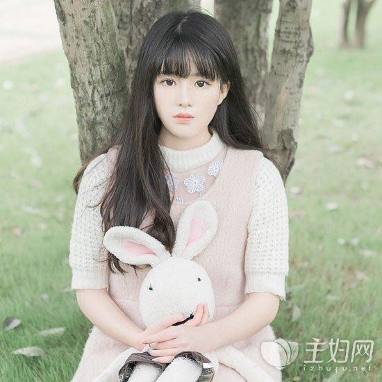 齐刘海发型图片