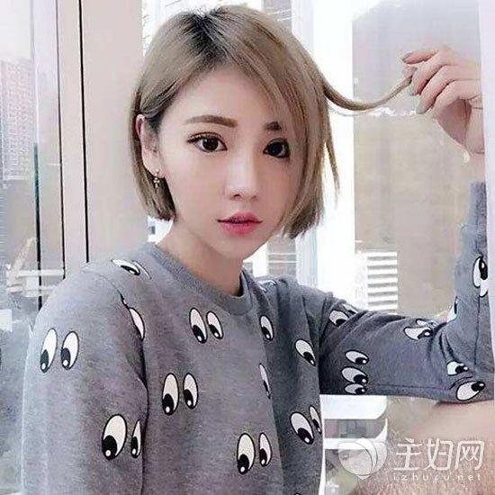 无刘海短直发