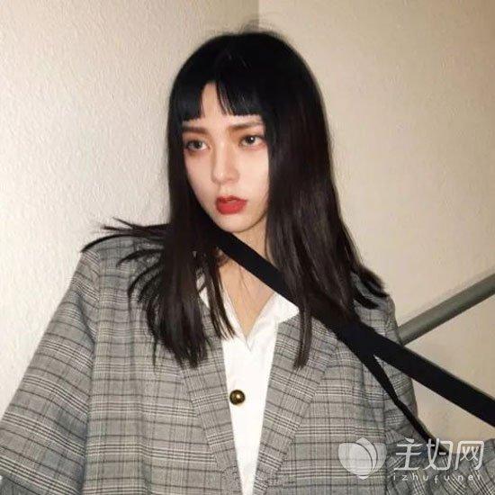 短刘海发型图片