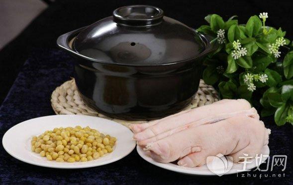 黄豆海带猪蹄汤的做法