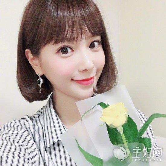 韩系短发发型图片 清新甜美很减龄发型