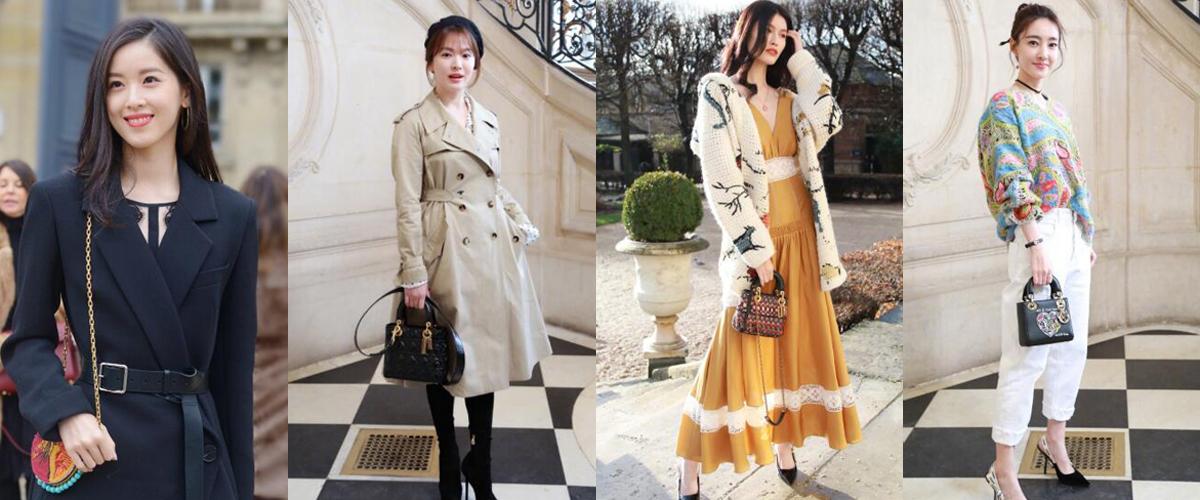 2018巴黎时装周 女神们的颜值和Dior包包加一起瞬间爆表