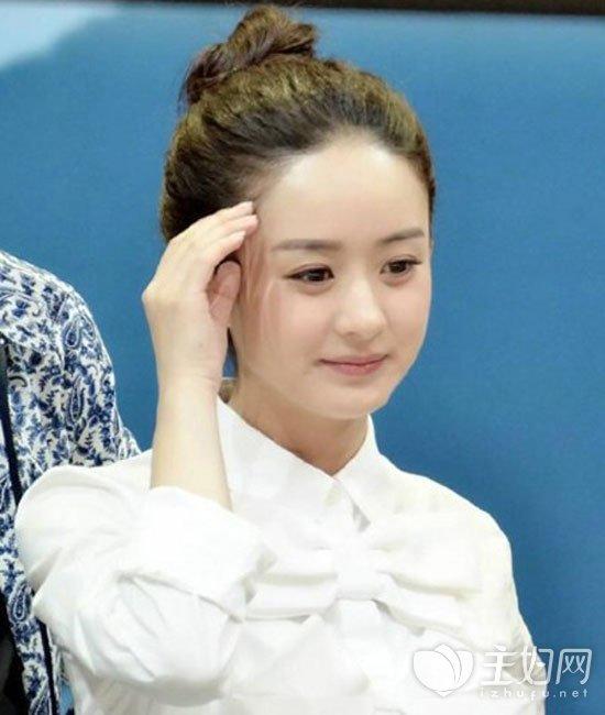 赵丽颖丸子头发型
