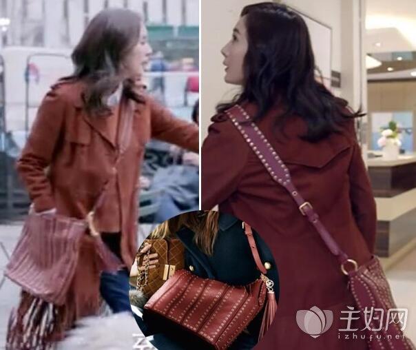 《谈判官》杨幂红色包包是什么牌子
